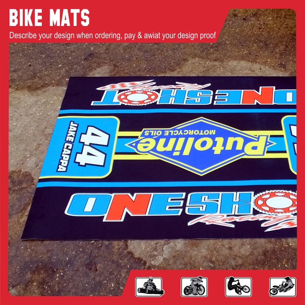 Bike mat one shot