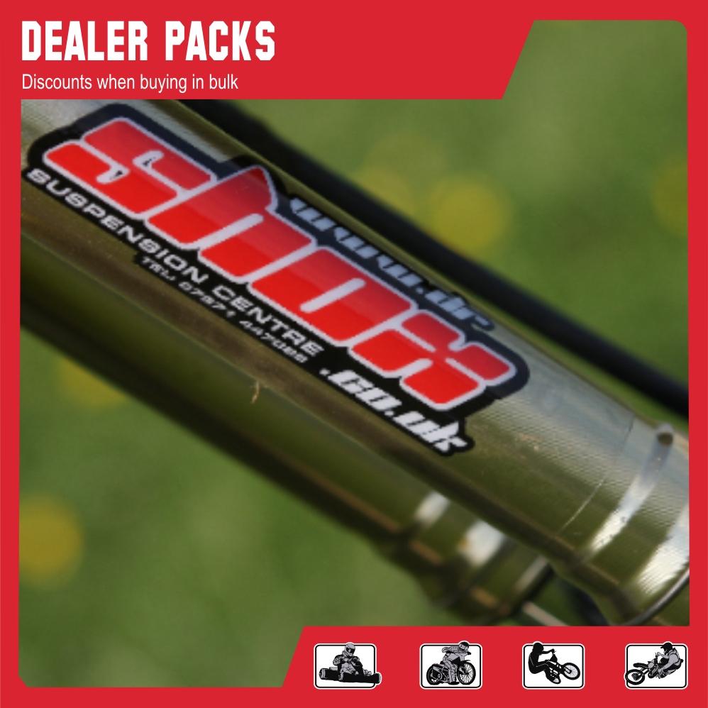 Dealer sticker packs