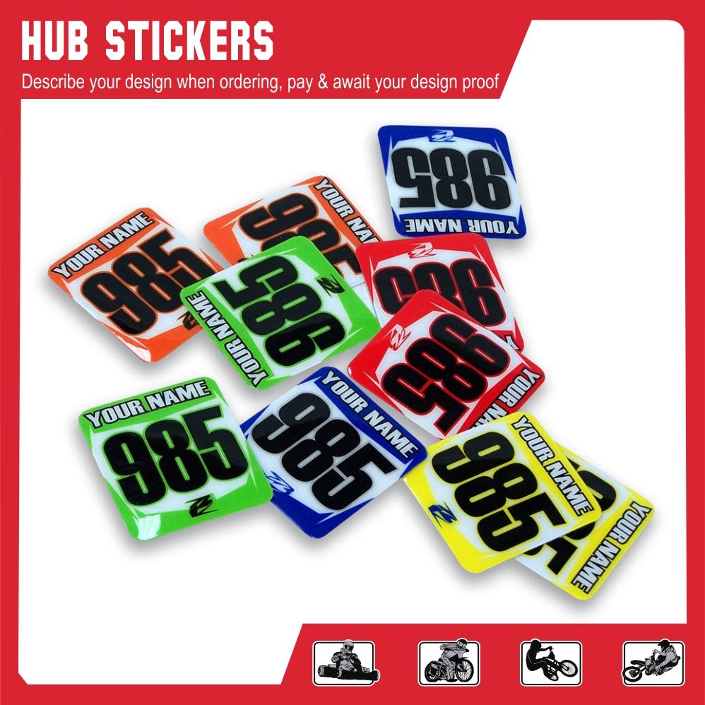 Hub stickers